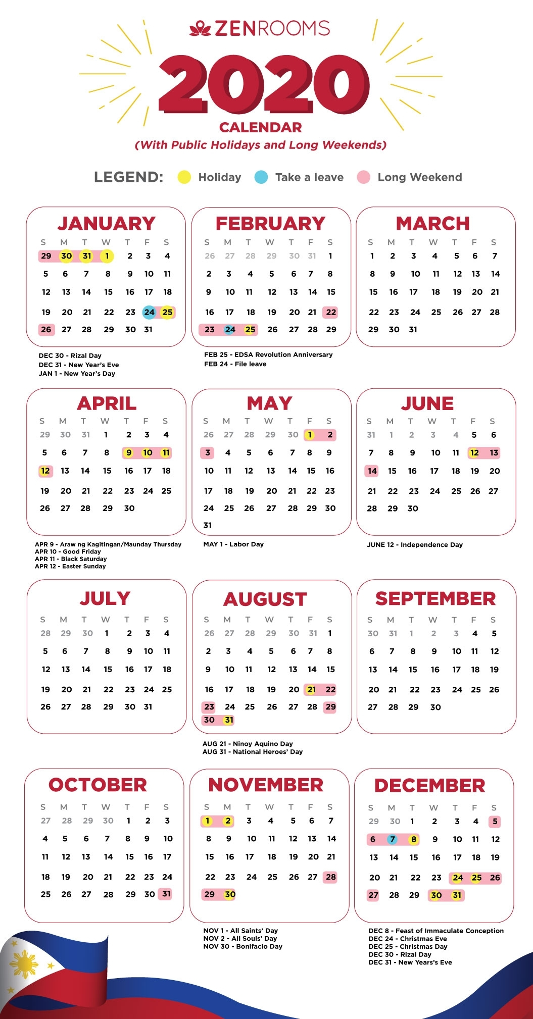 2020 Holiday Calendar Philippines: Travel Guide With Tips
