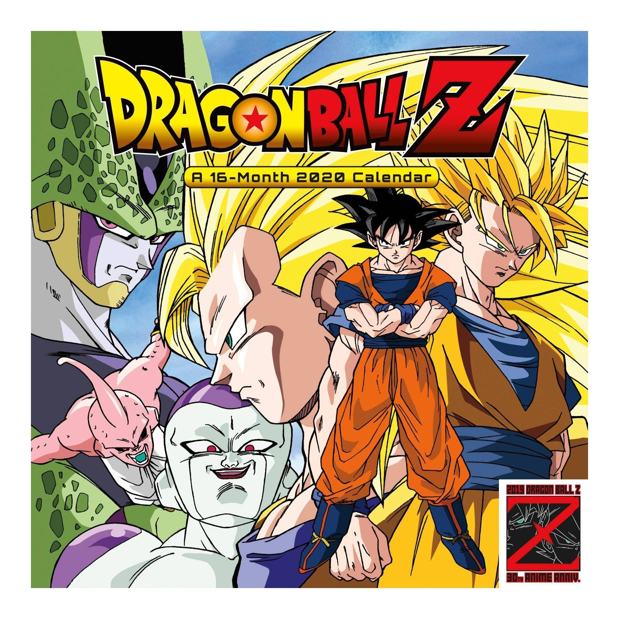 2020 Wall Calendar Dragon Ball Z 30Th Anniversary Monthly