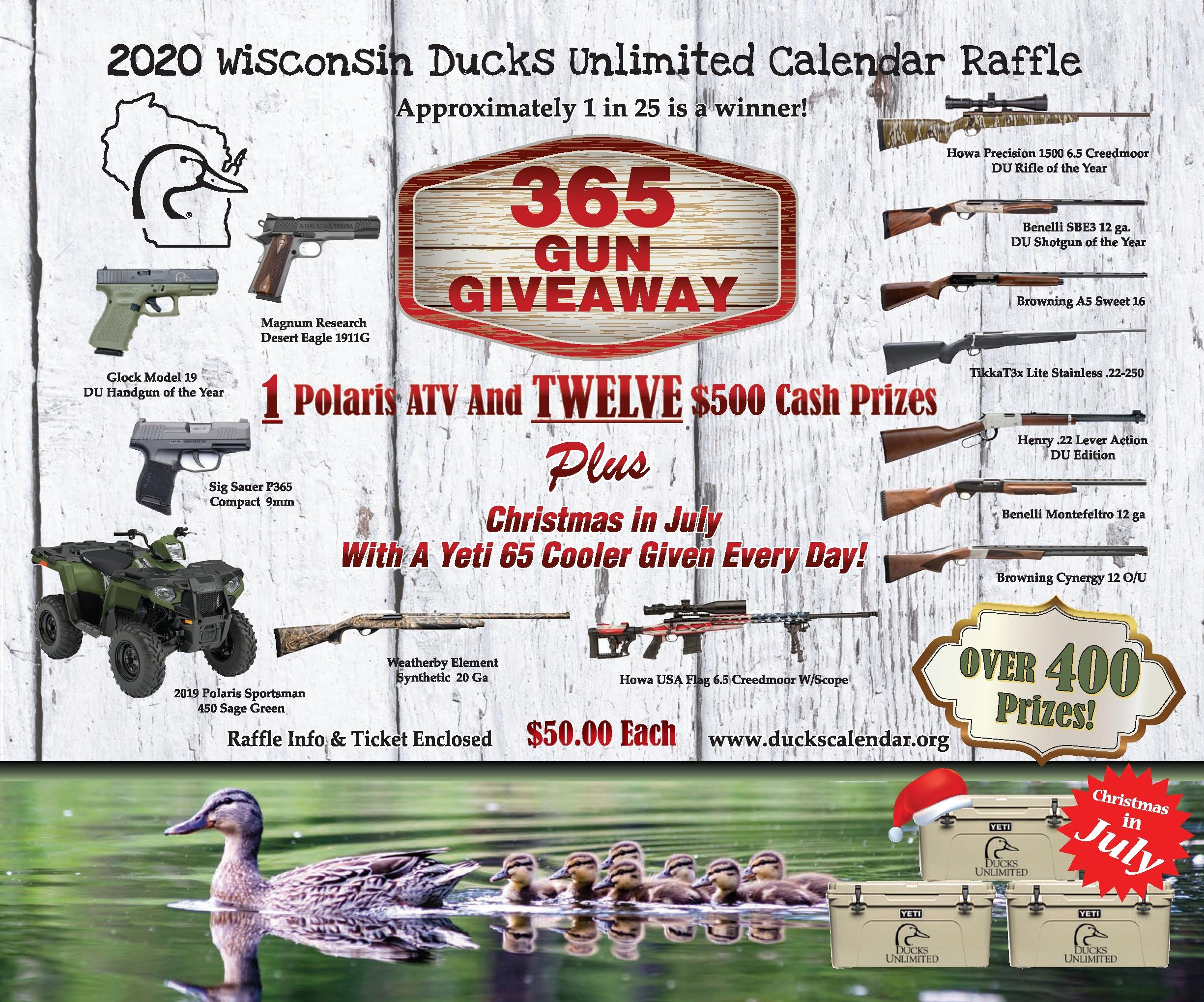 2020 Wi Du Calendars - Ducks Unlimited Calendar Raffle