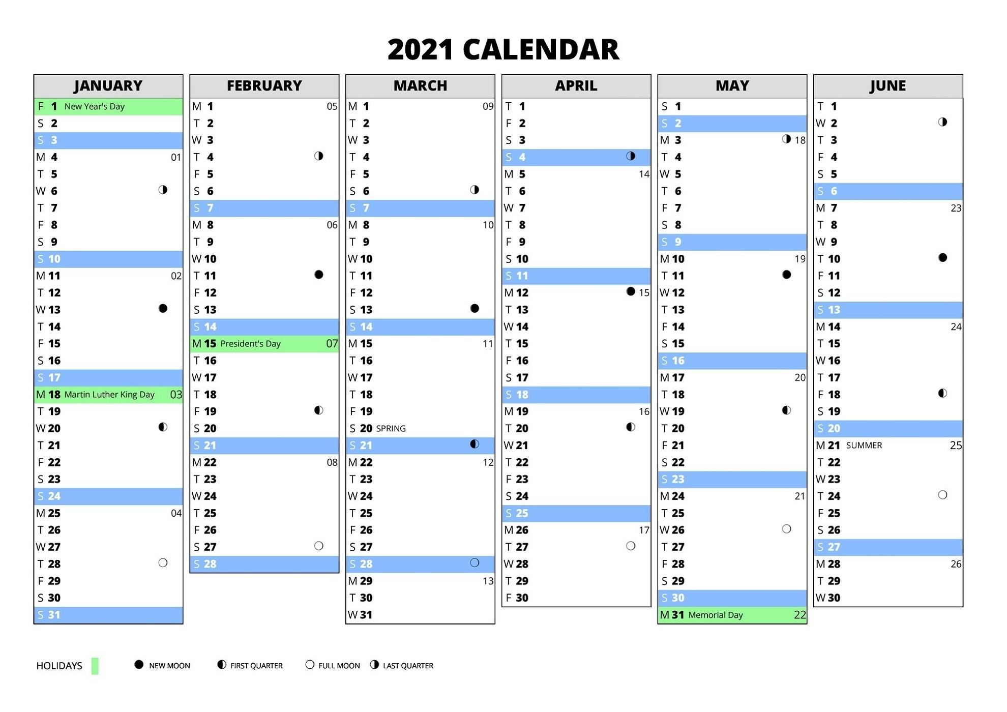 2021 Calendar With Week Numbers Excel Full | Calendar Shelter