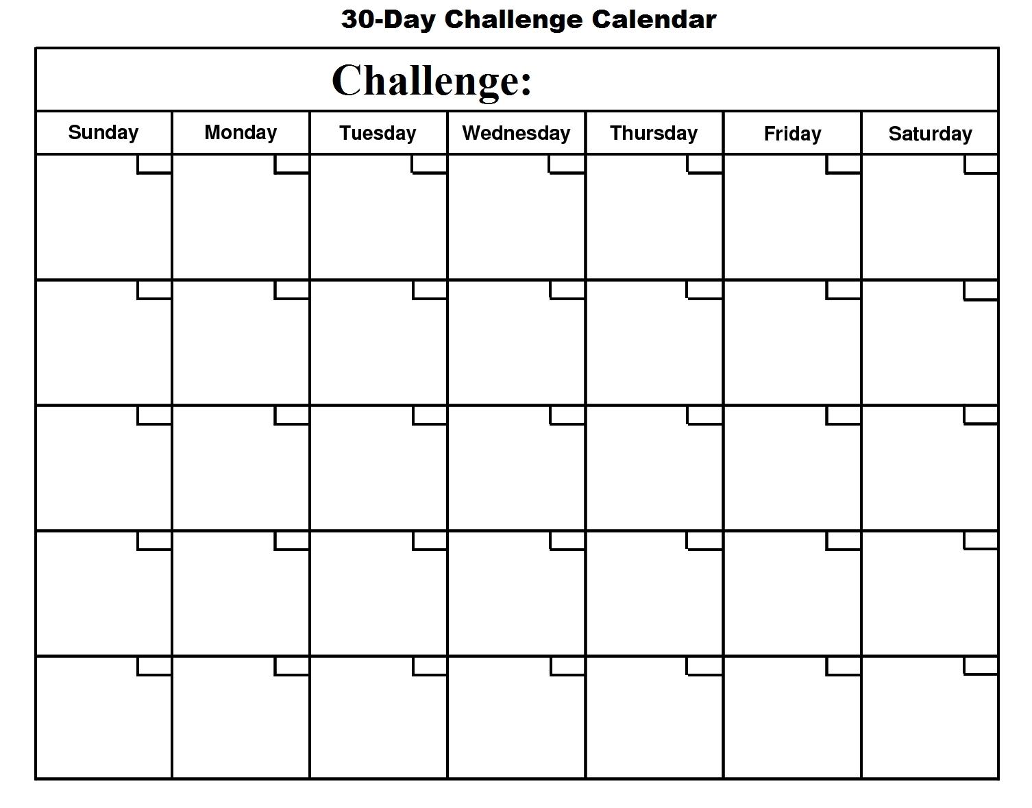 30 Day Calendar – Google Search | Free Printable Calendar