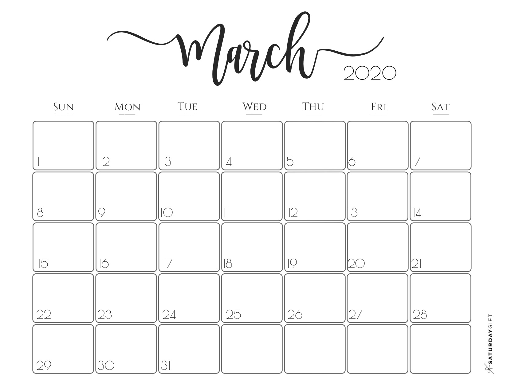 30 March 2020 Calendars You Can Download And Print