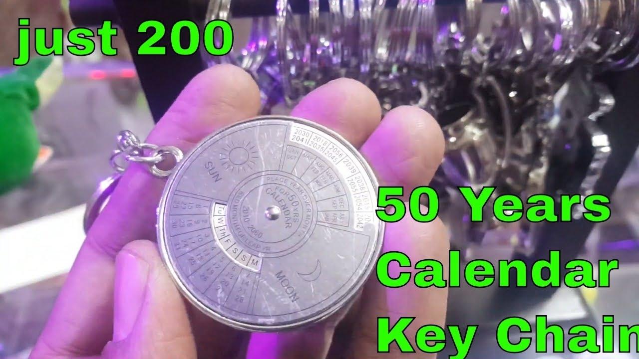 50 Year Calendar Keychain/keyring Compass    Super Toys Hub