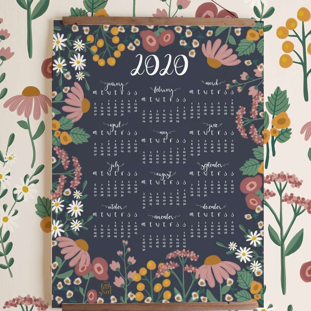 8 Stylish Free, Printable Calendars For 2020