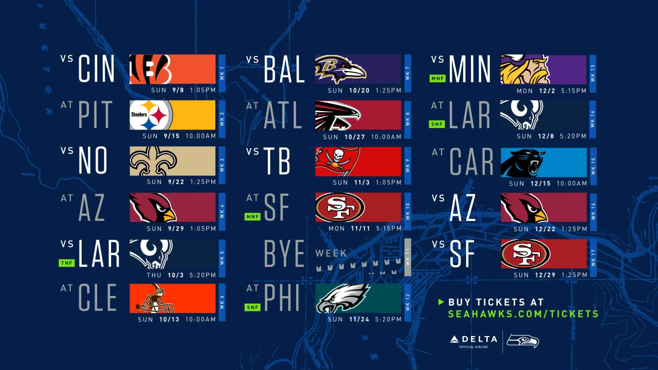 A Game-By-Game Breakdown Of The Seattle Seahawks' 2019 Schedule