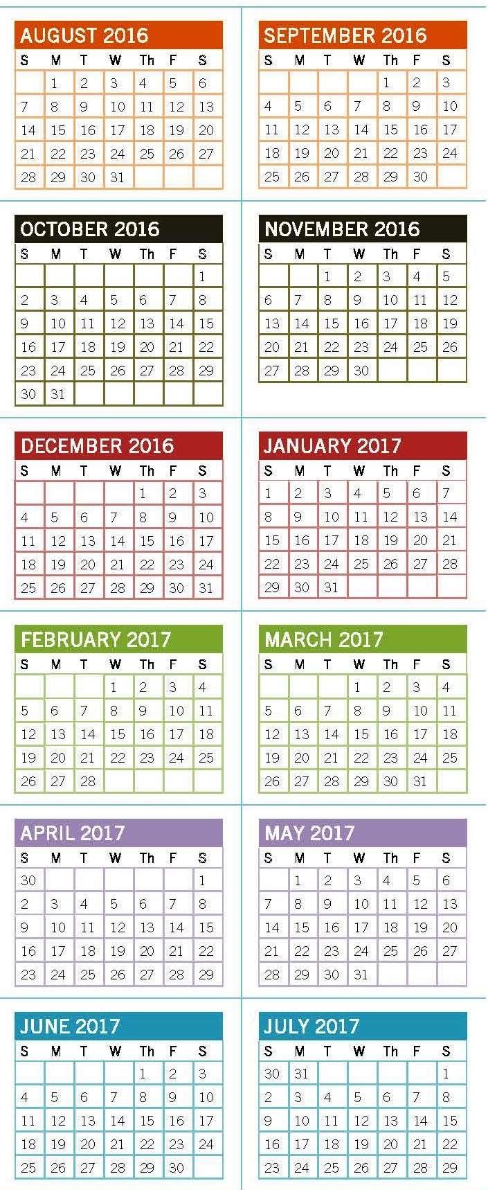 Academic Calendar - University Of North Carolina At