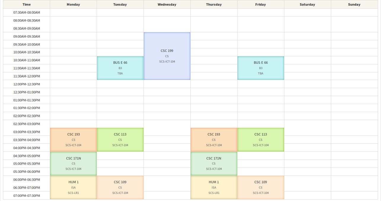 Android Library For A Week View Scheduler (No Dates) - Stack