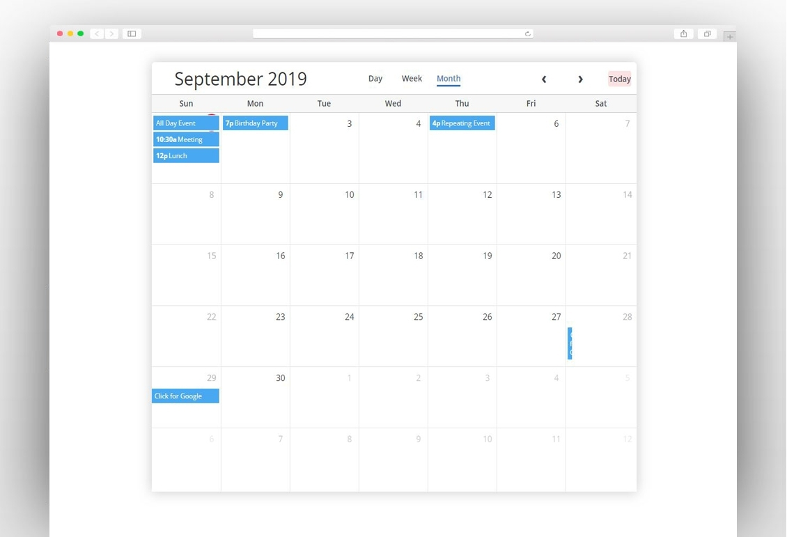 Best Free Bootstrap Calendars In 2019 - New Template