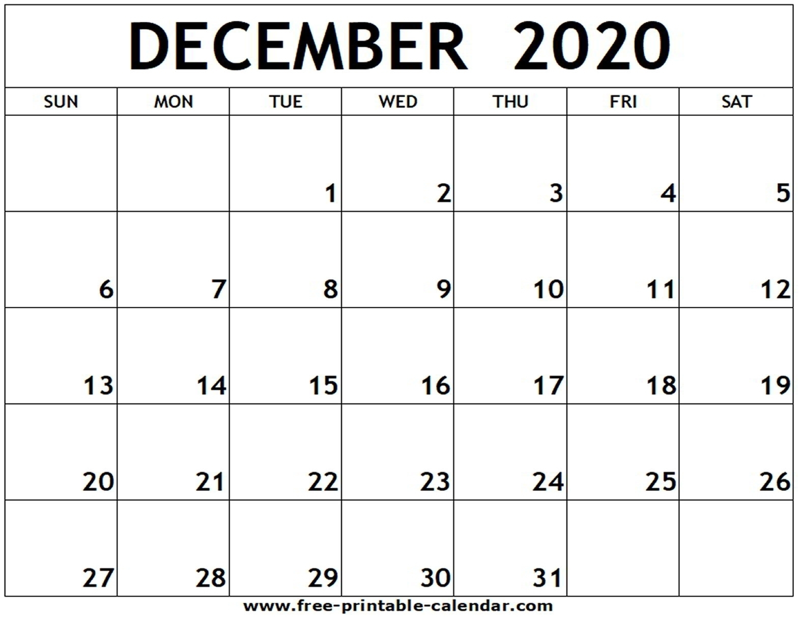 Blank Clanedar For Nov And Dec 2020 | Monthly Printable Calender
