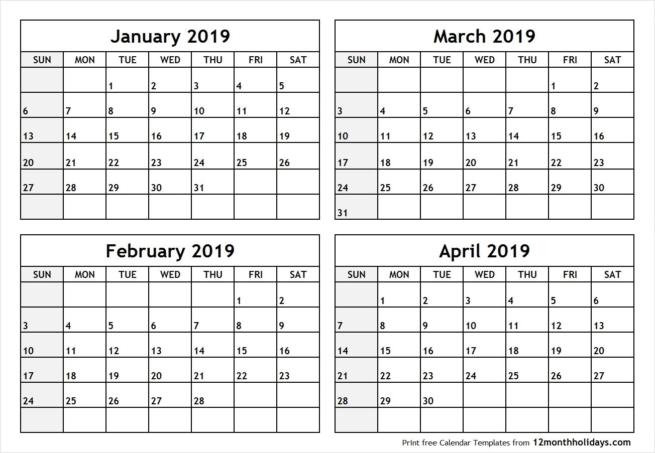 Calendar 2020 3 Months Per Page – Urgup.ewrs2018-4 Month Per