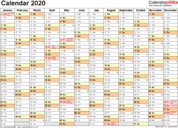 Calendar 2020 (Uk) | 17 Free Printable Pdf Templates