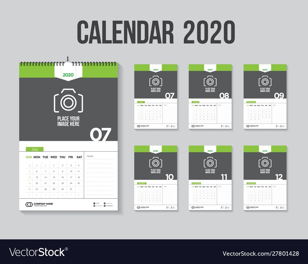 Calendar 2020 Week Start Sunday Corporate Design