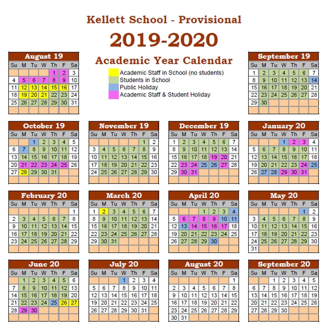 Calendar - Kellett School - The British International School