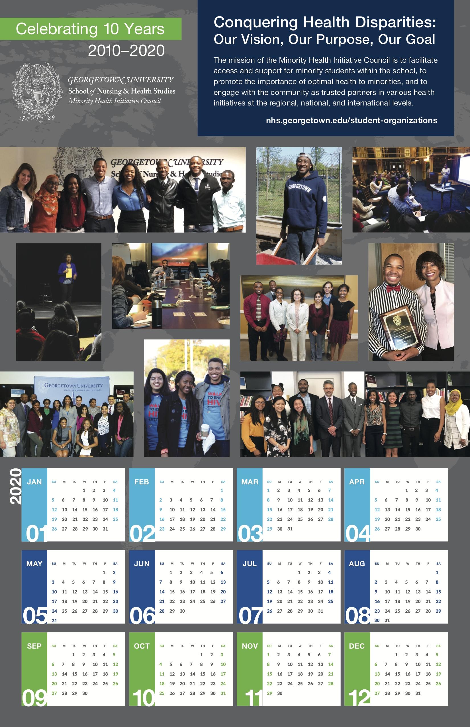 Calendar | School Of Nursing & Health Studies | Georgetown