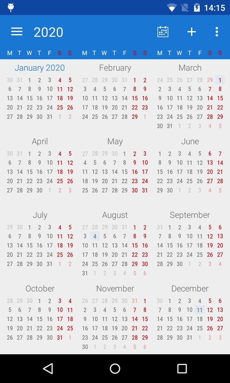 Calendar Views: Year View – Digical Help Center