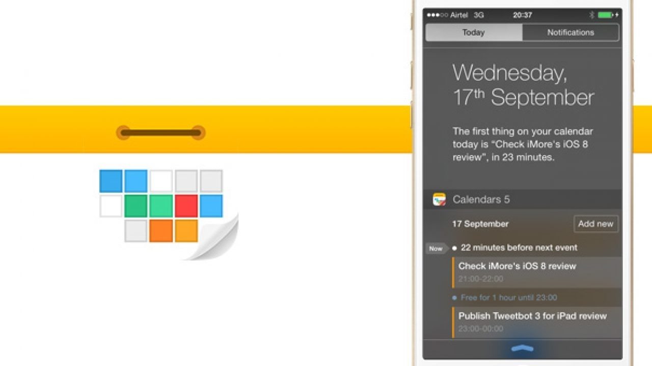 Calendars 5.5 Adds Today Widget & Interactive Notifications
