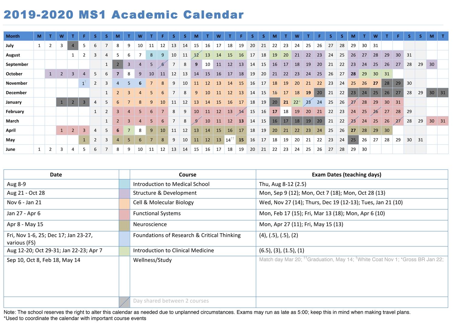 Calendars | University Of Maryland School Of Medicine