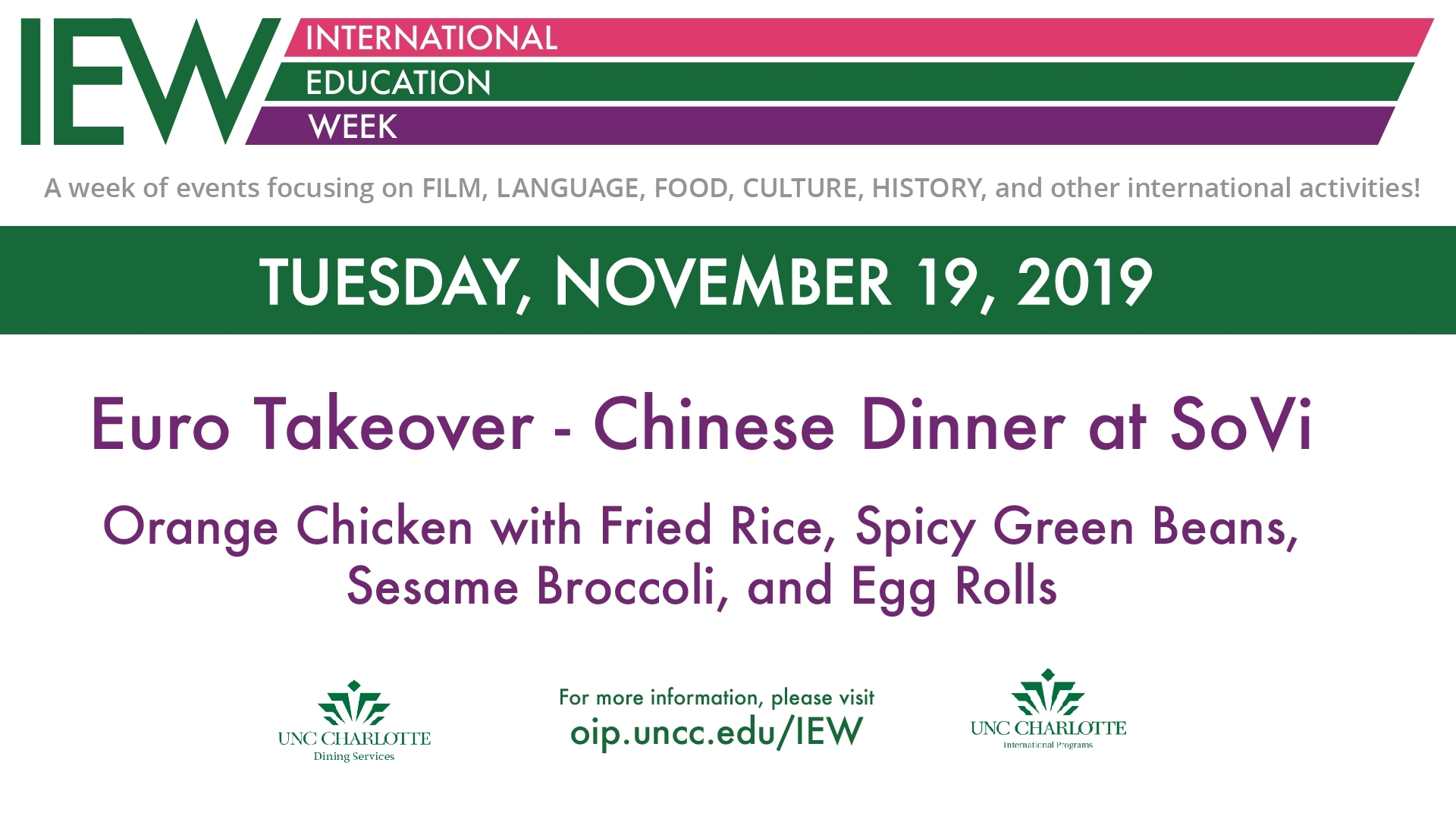 Chinese Dinner At Sovi | Office Of International Programs