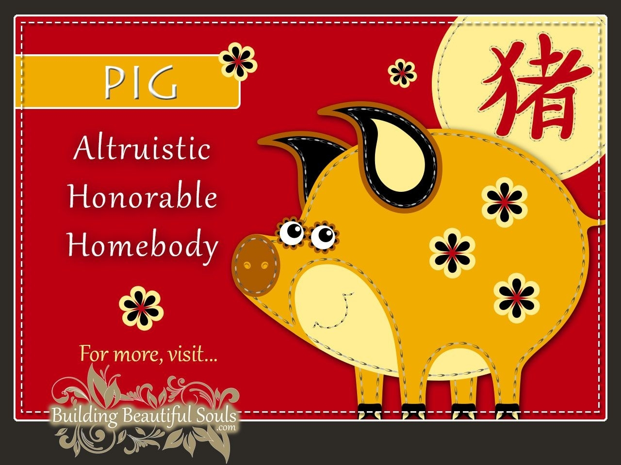Chinese Zodiac Pig (With Images) | Chinese Zodiac, Chinese