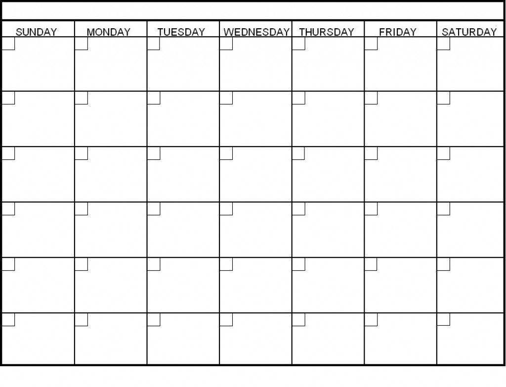 Collect Blank Calendar 6 Weeks Start On Sunday | Blank