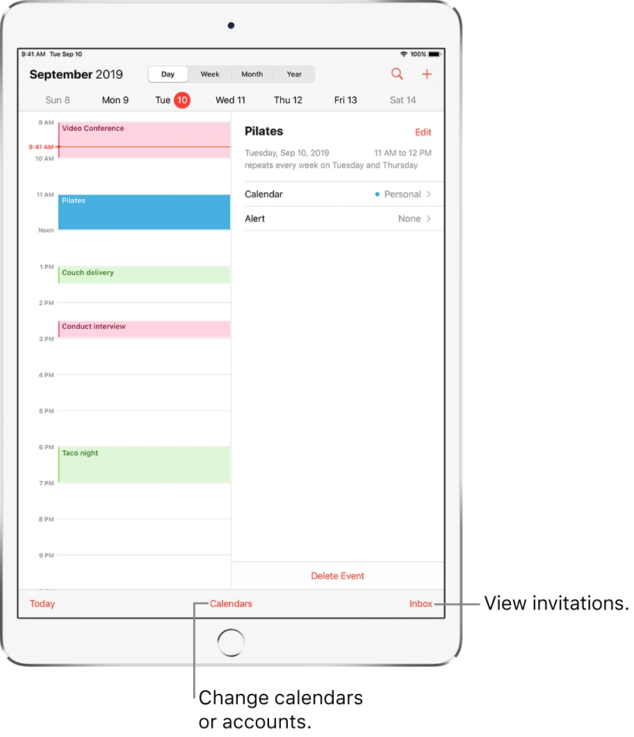 Create And Edit Events In Calendar On Ipad - Apple Support