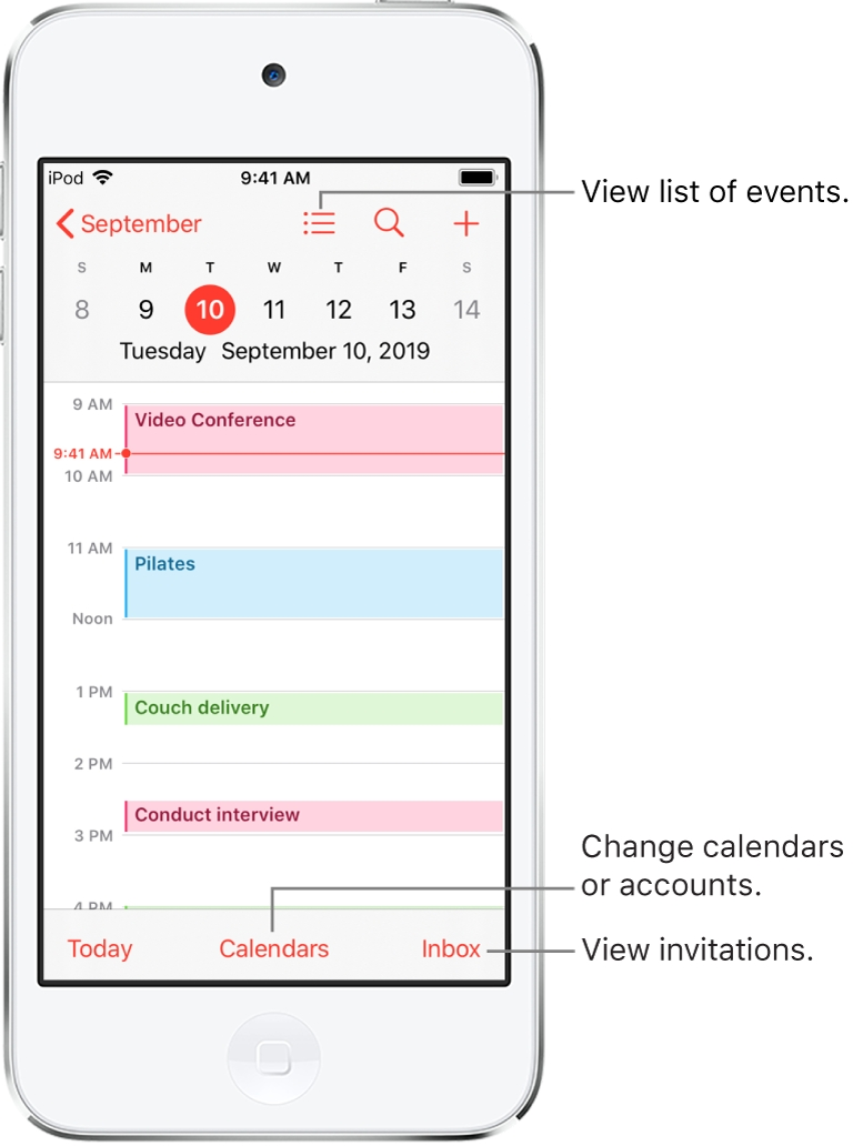 Create And Edit Events In Calendar On Ipod Touch - Apple Support