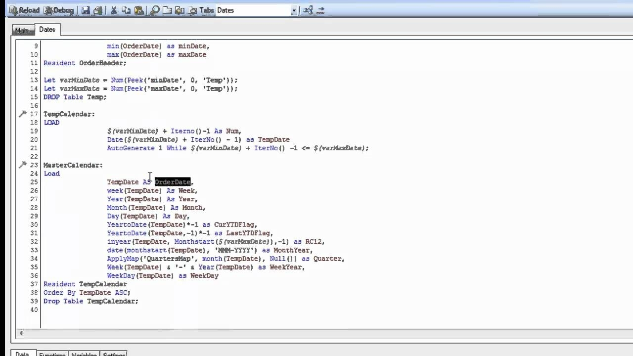 Creating A Master Calendar - Qlik Community - 341286