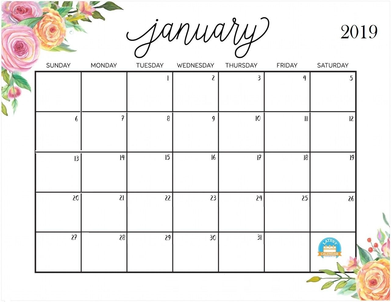 Cute January 2020 Calendar Printable Wallpapers Hd | August