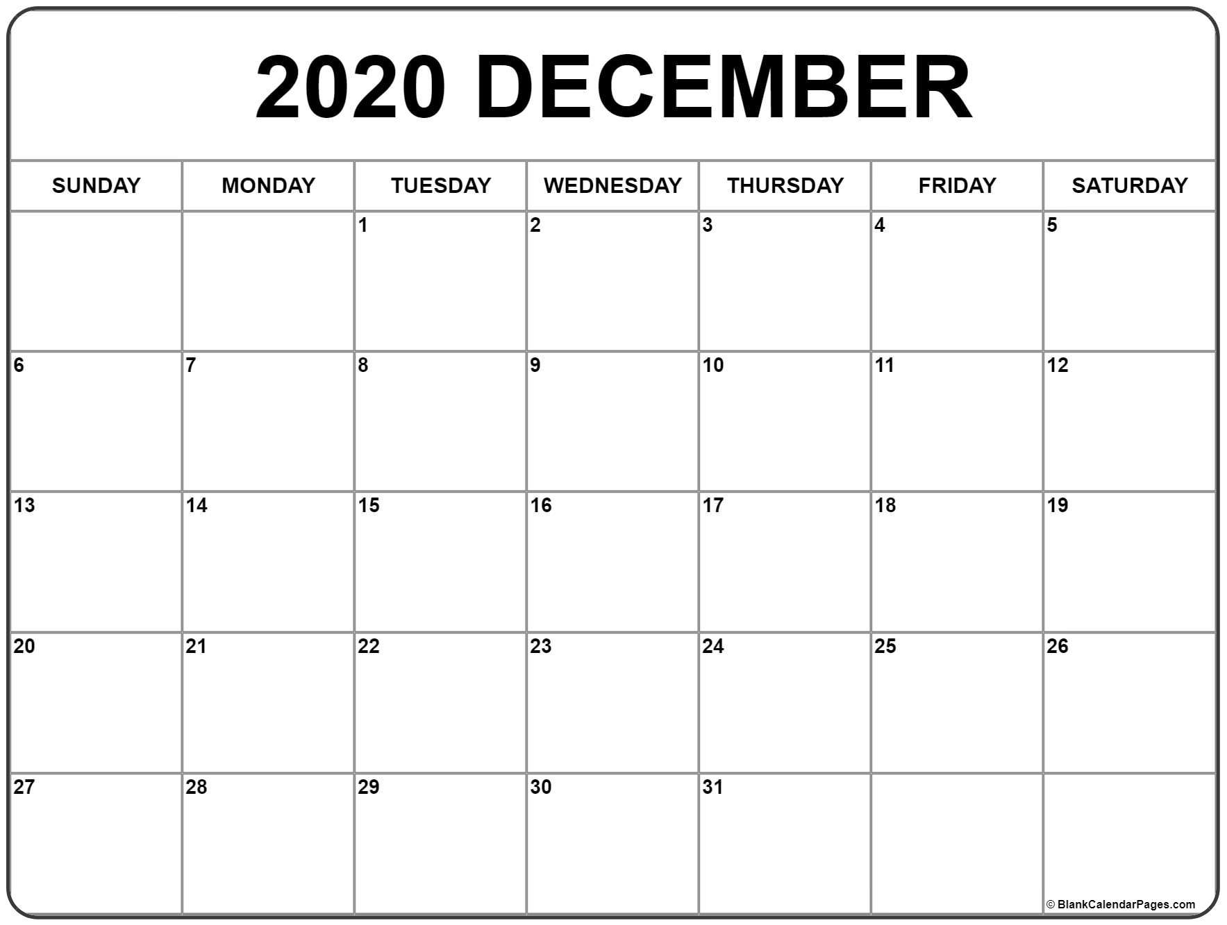 Free Printable Calendar Nov Dec 2020