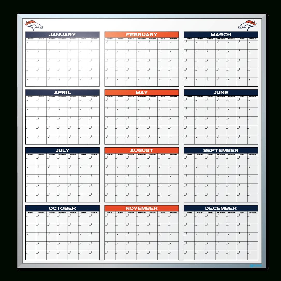 Denver Broncos Calendar Dry Erase Board | Custom Dry Erase