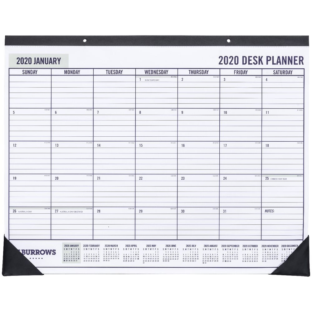 Details About J.burrows Desk Planner 2020