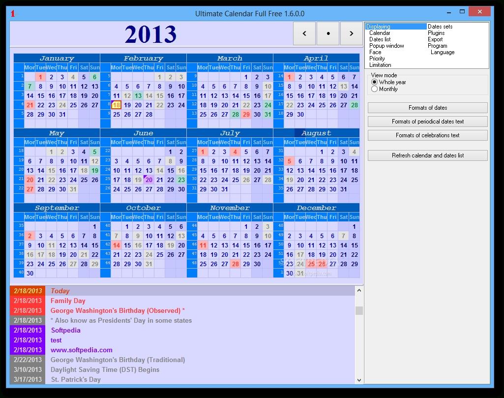 Download Ultimate Calendar Portable 1.8.1.2 Update 2