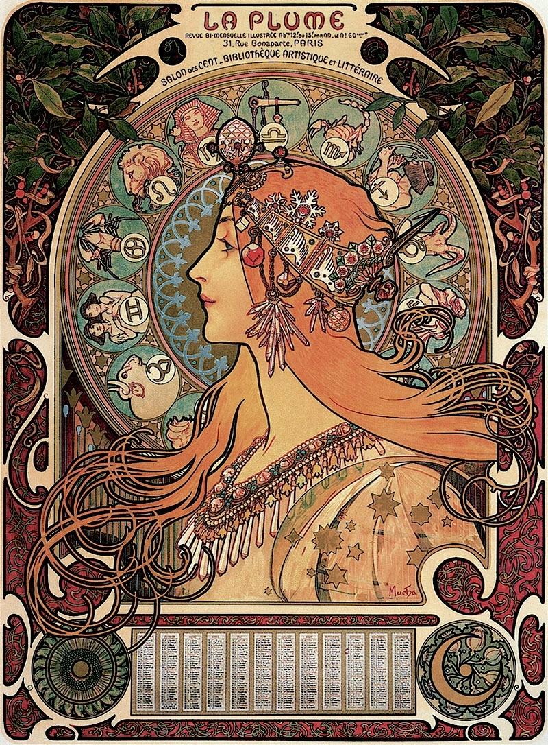 Everything Alphonse Mucha — Alphonse Mucha - Zodiac (1896