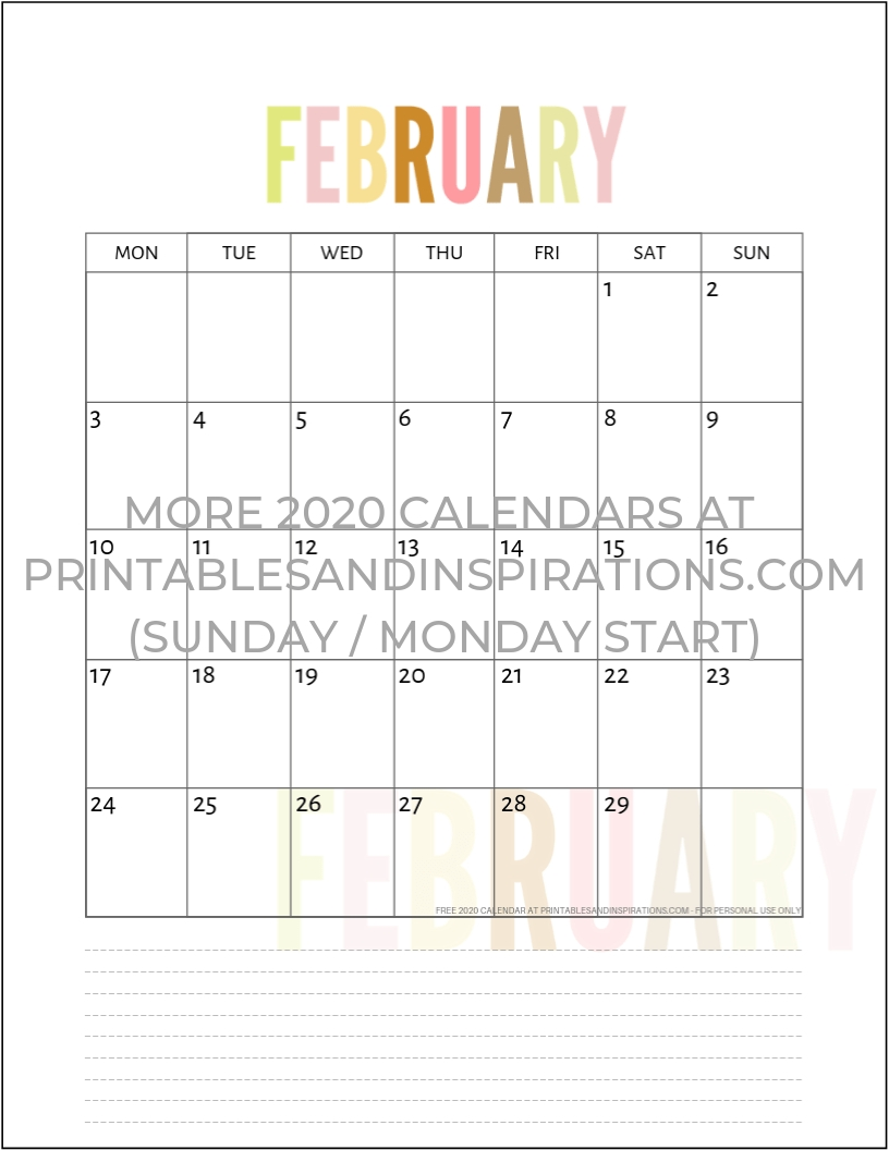 Free 2020 Calendar Printable Planner Pdf (My Ultimate List