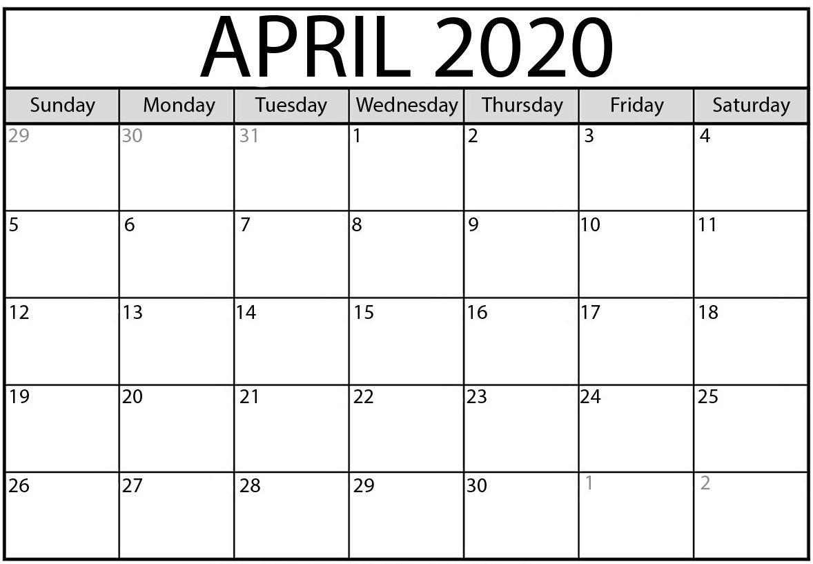 Free April 2020 Calendar Nz Vacations List Printable - Set