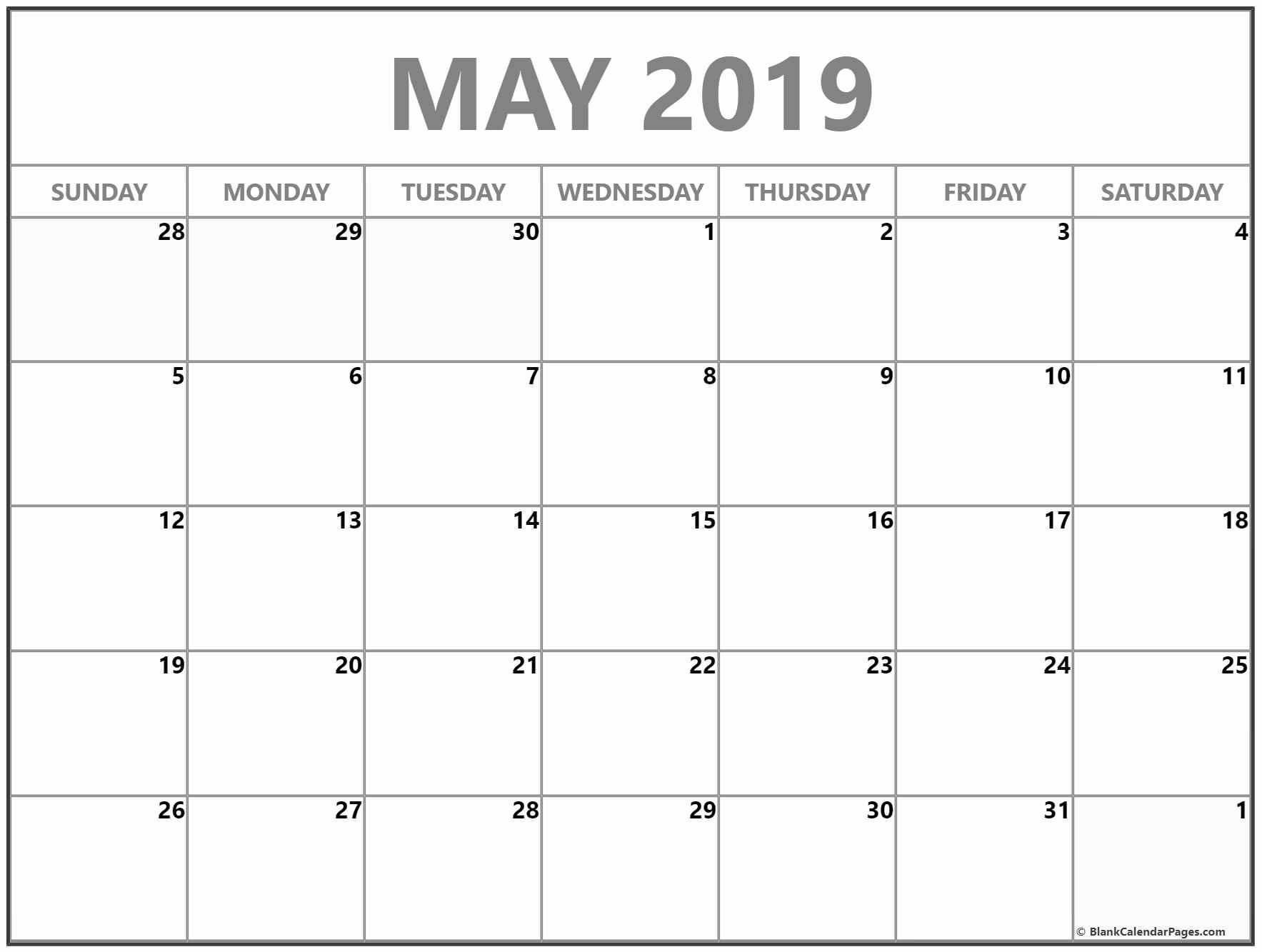 Free Download May 2019 Calendar Pdf Word Excel Notes Xls Vertex