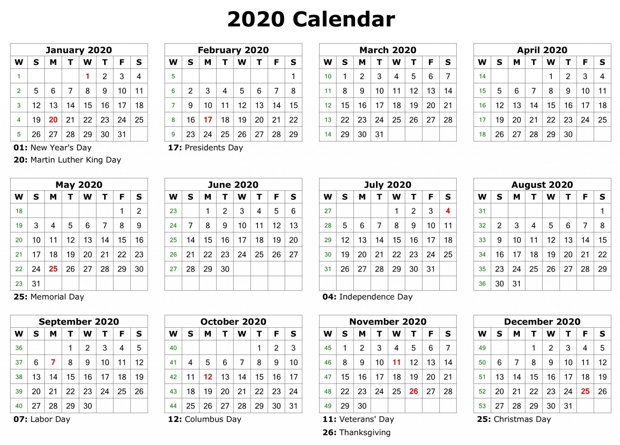 Free Monthly Calendar Creator 2020 (With Images) | Printable