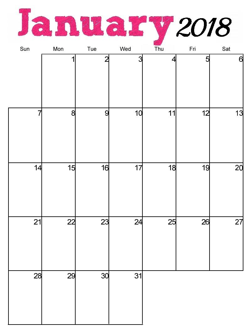 Free Printable 2018 Vertical Monthly Calendar | Latest Calendar