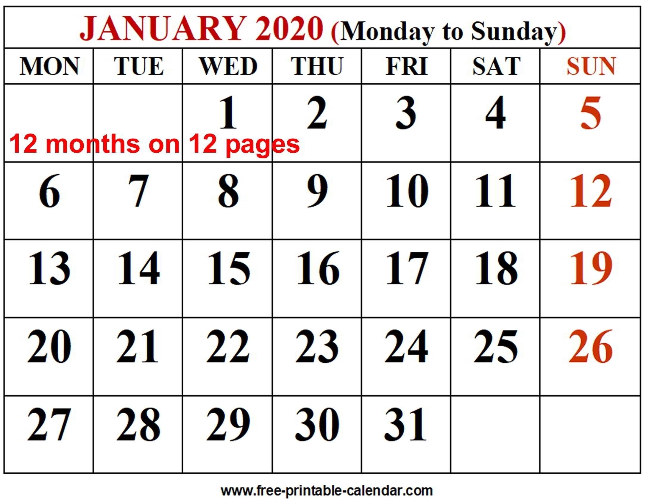Free Printable 3 Month Calendar 2020 – Urgup.ewrs2018