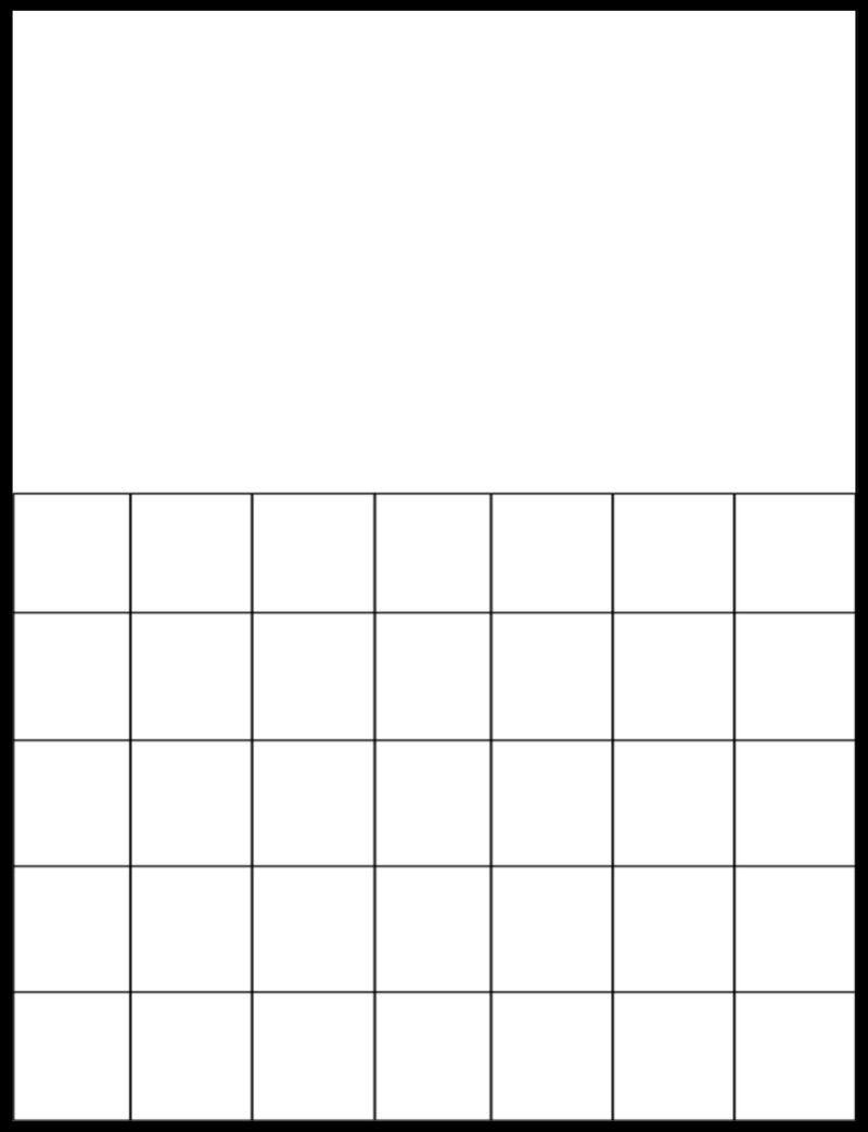 Free Printable Blank Calendar Grids   Printable Blank