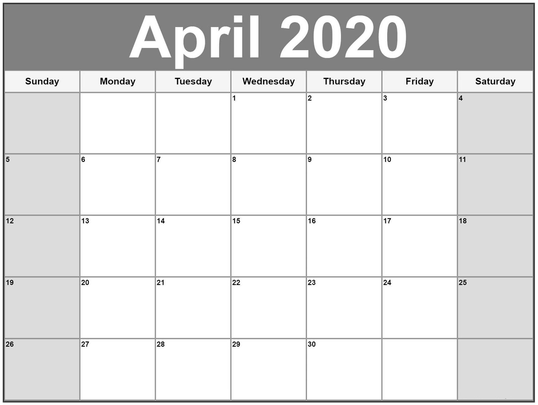 Free Printable Calendar 2020   Calendar Shelter
