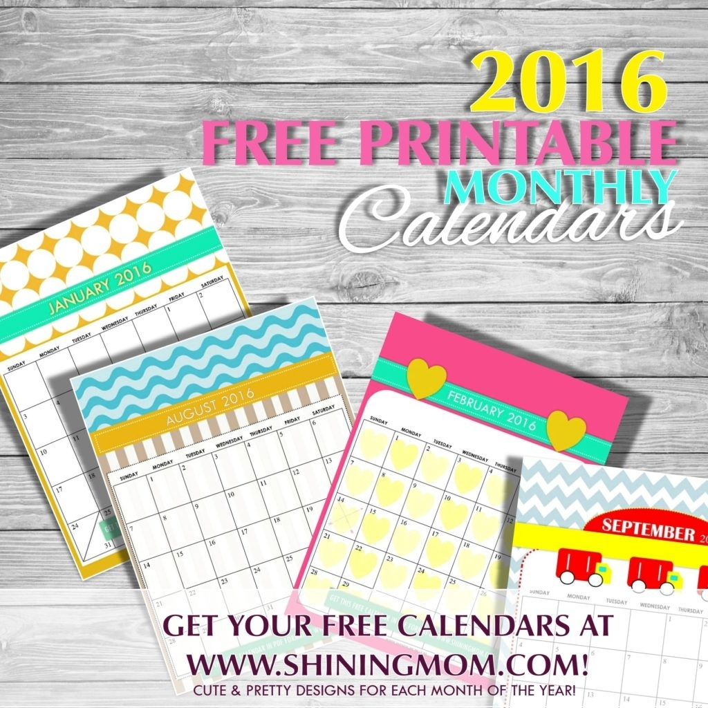 Free Printable: Cute 2016 Calendarsshining Mom!