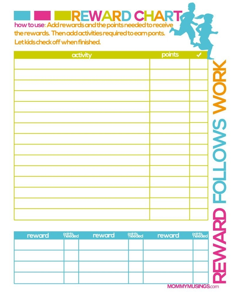 Free Printable Kids Rewards Chart | Printable Reward Charts