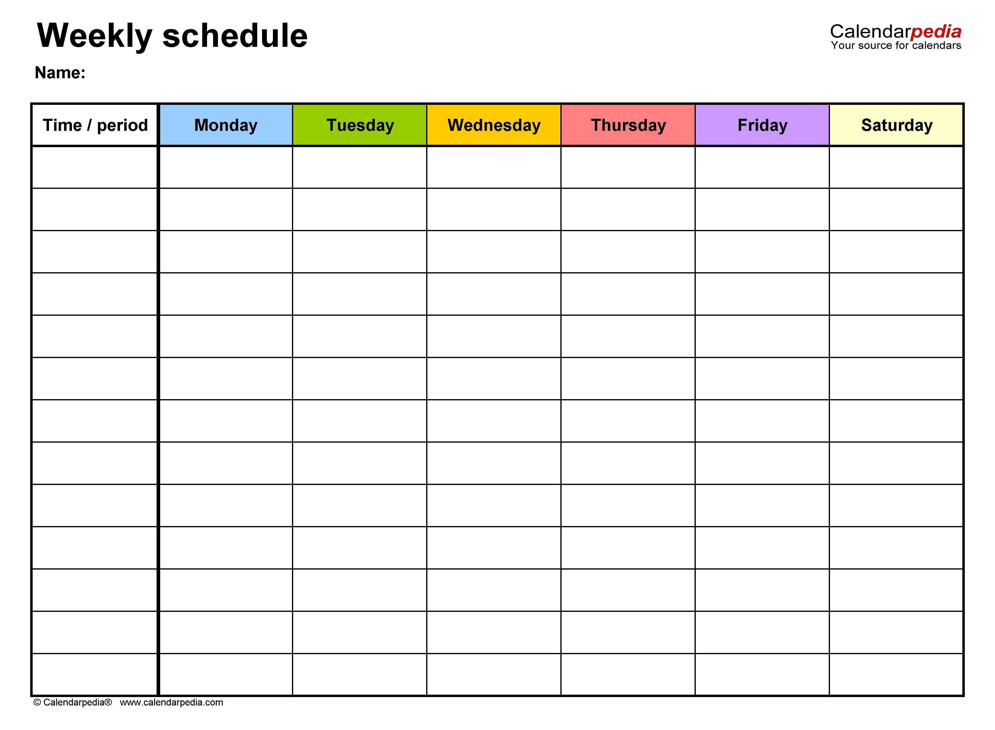 Calendar Week Format Excel