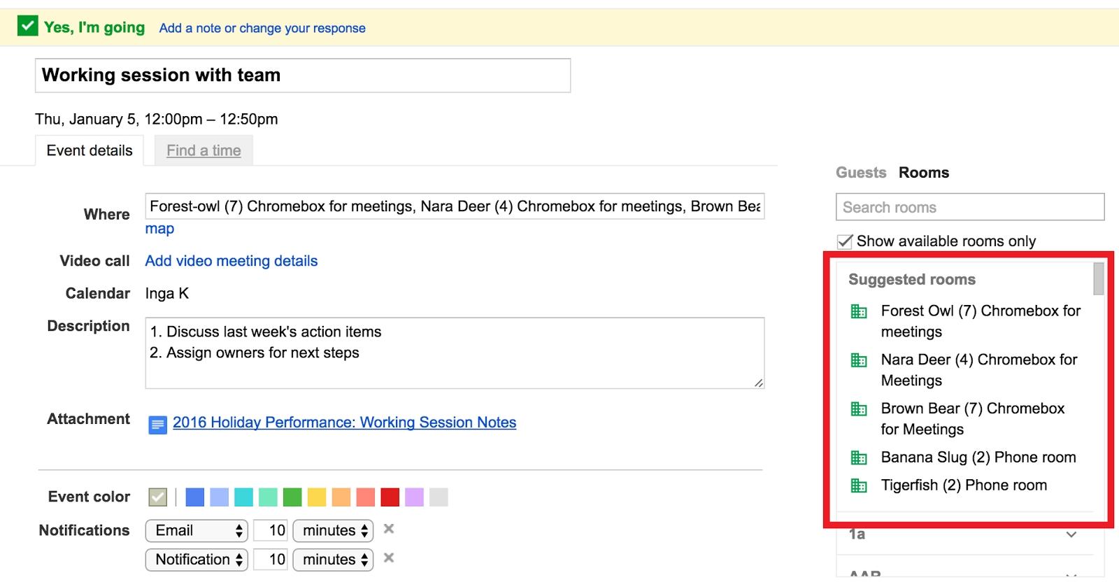 G Suite Updates Blog: Smarter Meeting Scheduling In Google