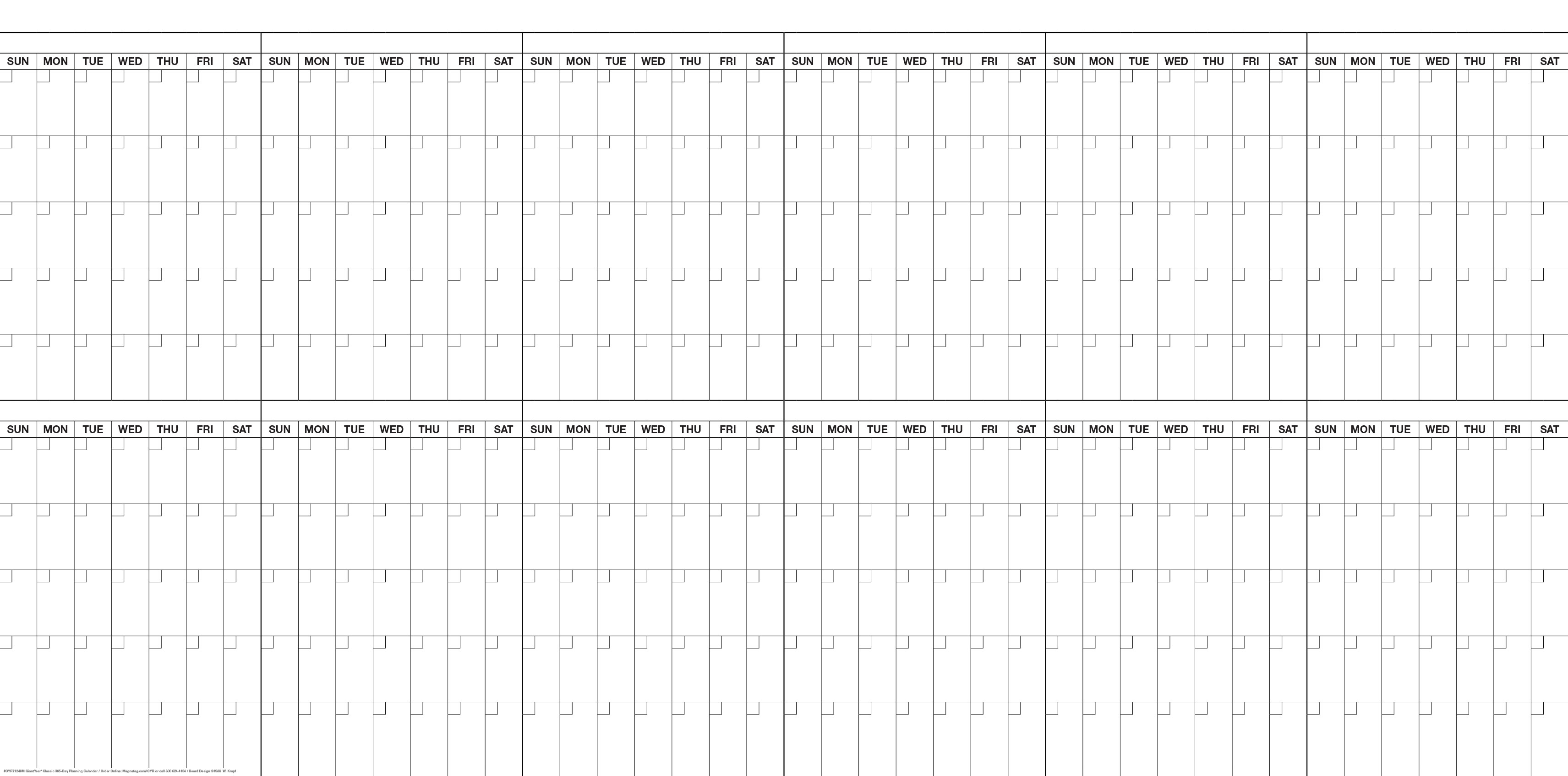 Giantyear Calendar Sys 4'h X 8'w