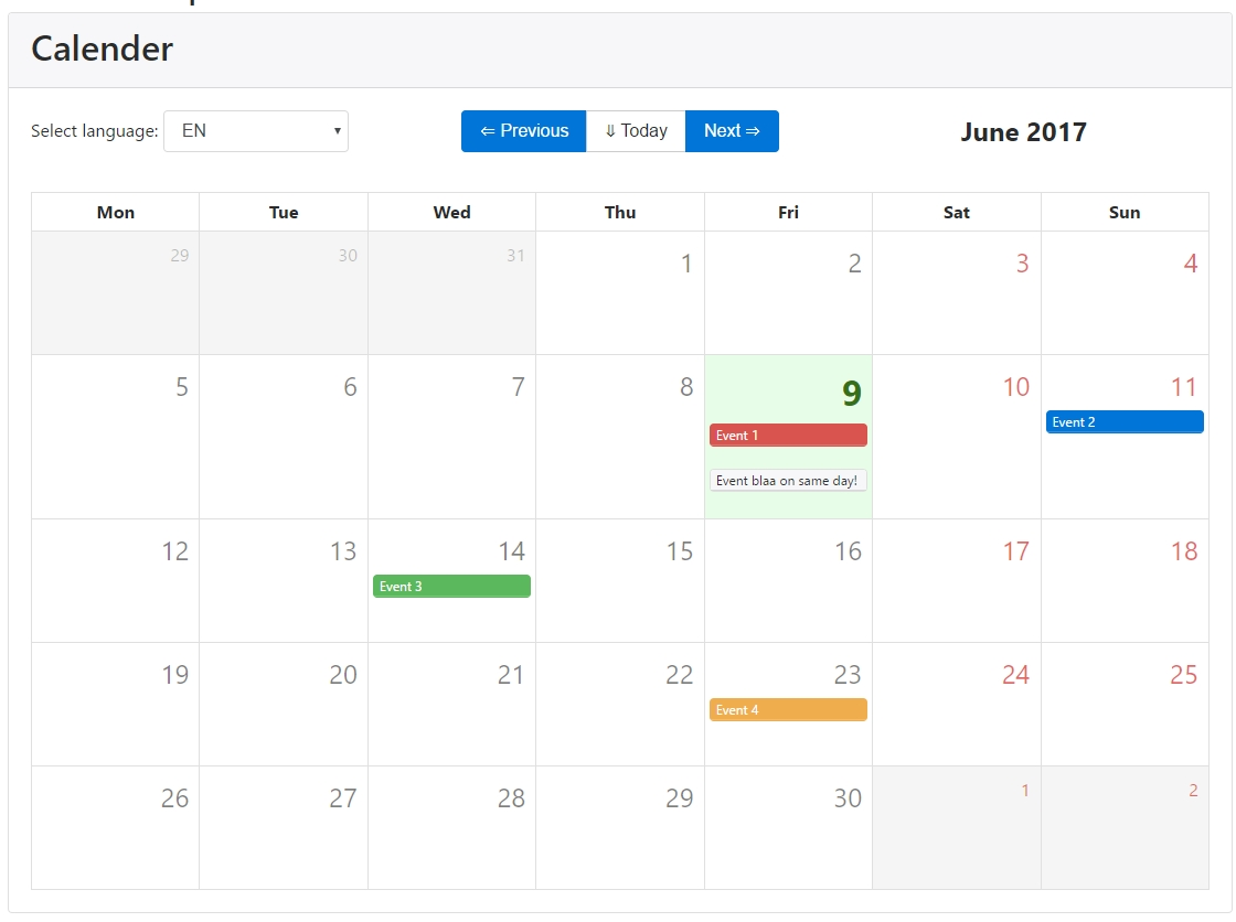 Github - Exclusiv3/vue-Bootstrap-Calendar: Use The Magical