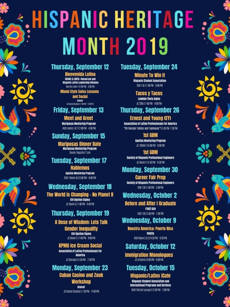 Hispanic Heritage Month 2019 | Office Of Diversity