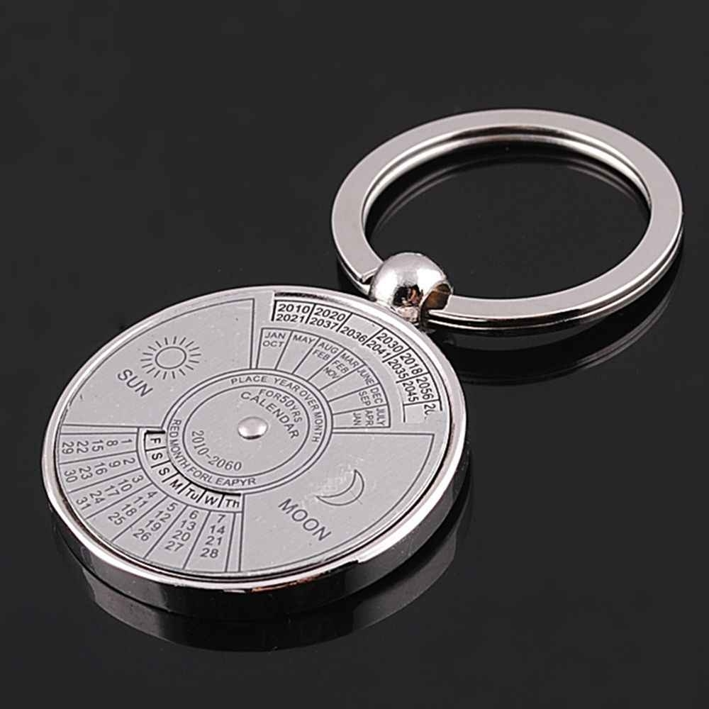 Hot Sell Mini 50 Years Perpetual Calendar Unisex Key Chain