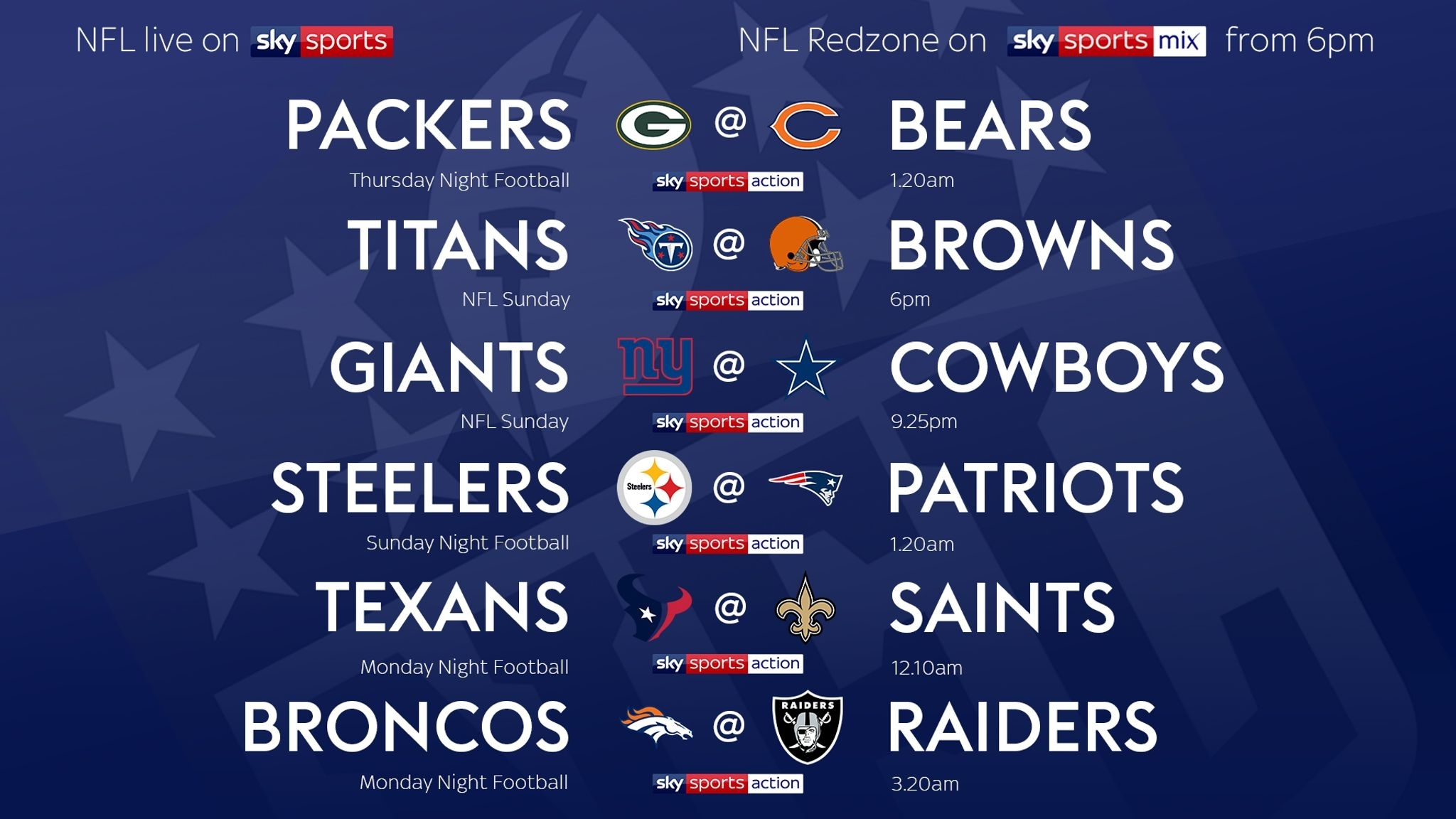 How To Follow The Nfl On Sky Sports In 2019/20 | Nfl News